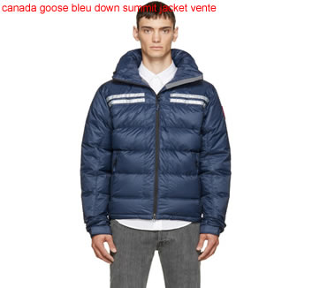 canada goose bleu down summit jacket vente
